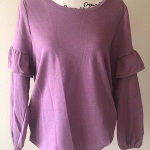 Old navy sweater with ruffled sleeves